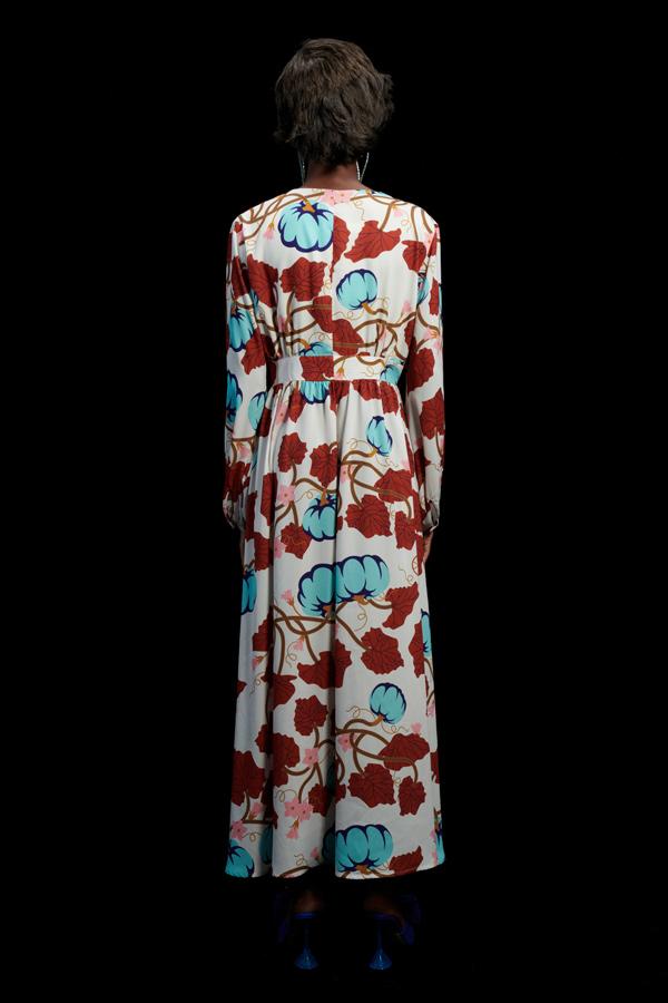 PUMPKINS CREAM MAXI DRESS